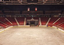 An ice arena empty at the time