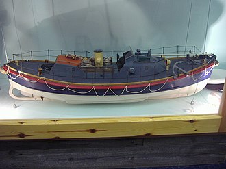 RNLB Henry Blogg (ON 840) - Image: Model of the Lifeboat Henry Blogg Henry Blogg museum in Cromer