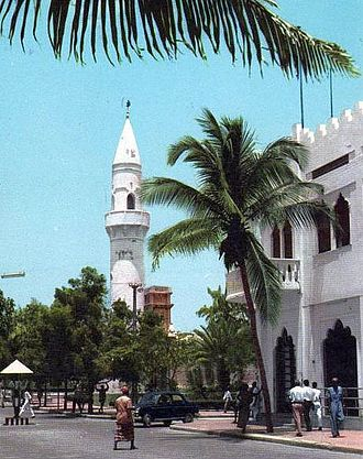 Somali Republic - An avenue in downtown Mogadishu in 1963.