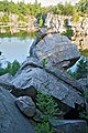 Mohonk Mountain House 2011 Talus Pile against Lake FRD 3179.jpg