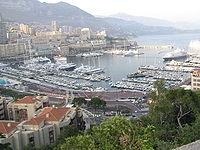 Monaco city and harbour view