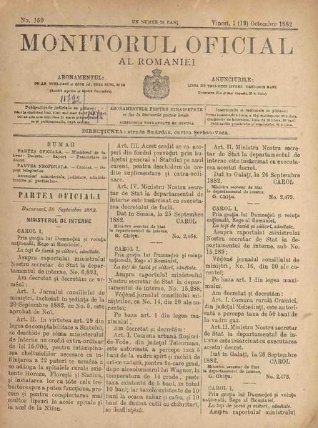 File:Monitorul Oficial al României 1882-10-01, nr. 150.pdf