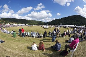 Monmouthshire Show - Show ground in 2011