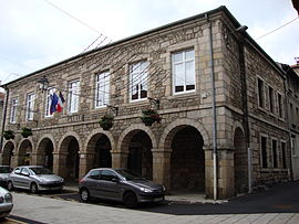The town hall in Montfaucon-en-Velay