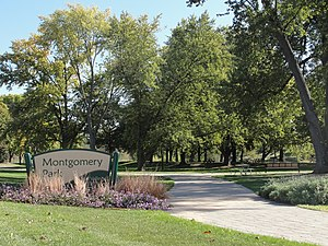 Montgomery, Illinois - Image: Montgomery Park south entrance
