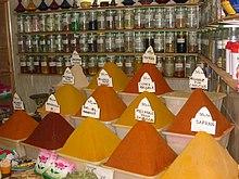 Negozio di spezie in Marocco