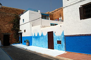 Kasbah of the Udayas - Image: Morocco Rabat Medina