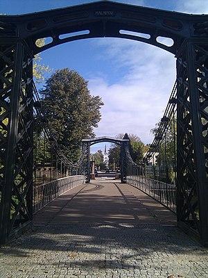 Ozimek Suspension Bridge - Image: Most w Ozimku