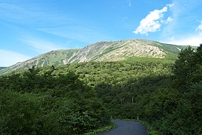 Mount Hayachine from the Iwate Pref Road 25.jpg