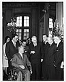 Mrs. Pflimlin; Mary Collins; Mayor John F. Collins; Pierre Pflimlin, Mayor of Strasbourg; unidentified men (12173284074).jpg