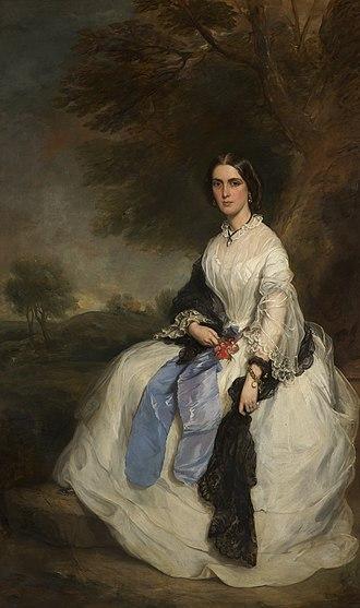 John Hick (politician) - Mrs Margaret Hick by Francis Grant RA, presented at the Royal Academy of Arts, May 1861.