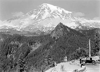 Pierce County, Washington - Mt. Rainier from Ricksecker Point, 1932