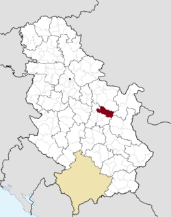 Location of the municipality of Despotovac within Serbia