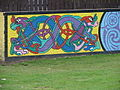 Mural on Side of Garden Wall, Springhill Crescent - geograph.org.uk - 505303.jpg