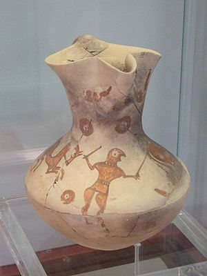 Numantia - Jar with three spouts (1st century B.C.) in the Museo Numantino