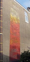 Wall poem by Dutch poet Hendrik Marsman