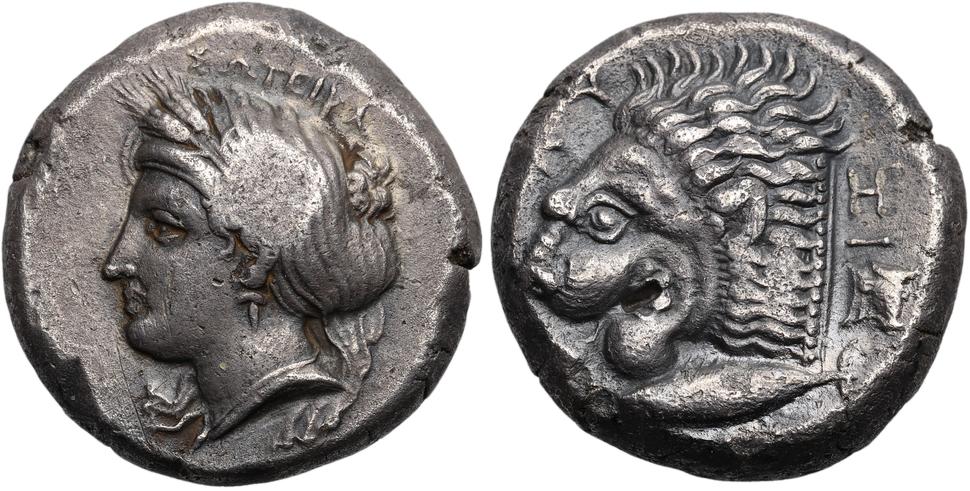 Mysia Kyzikos AR Tetradrachm LionsHead Pixodarus2D P631.xcf