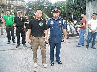 Manila Police District - MPD Director - P/CSUPT ISAGANI F GENABE PNP supervises the security operations during the 2013 Philippine Bar Examination.