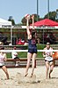 NCAA beach volleyball match at Stanford in 2017 (32617698103).jpg