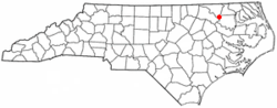 Location of Roxobel, North Carolina