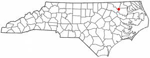 Roxobel, North Carolina - Image: NC Map doton Roxobel