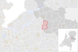 Locatie van de gemeente Olst-Wijhe (gemeentegrenzen CBS 2016)