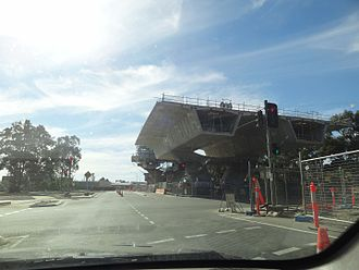 North–South Motorway - The South Road Superway taking shape at Days Road intersection, April 2012