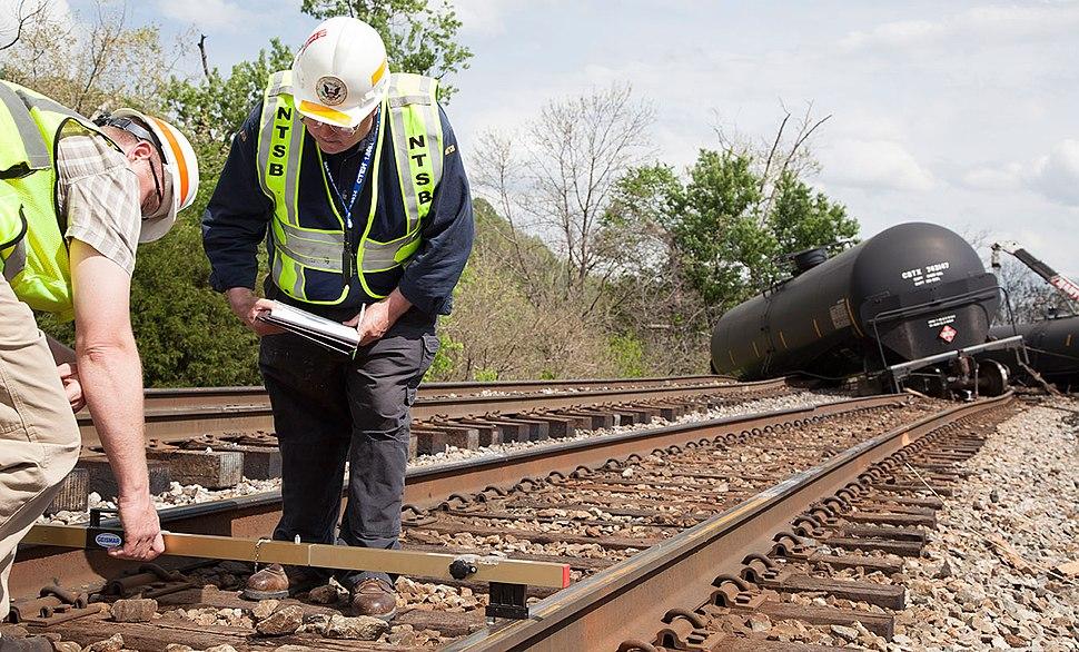 NTSB Rail Safety Investigators on scene in Lynchburg, VA (14131479864)