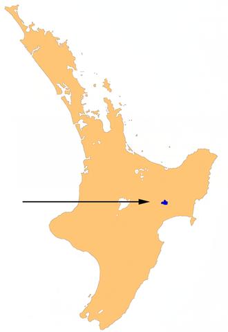 Lake Waikaremoana - Location