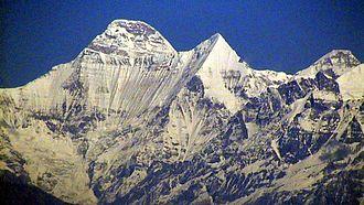 Nanda Devi - The southwest side of Nanda Devi photographed from Sassanian