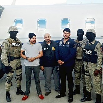 Illegal drug trade - The nephews of President Nicolás Maduro, Efraín Antonio Campo Flores and Francisco Flores de Freitas, after their arrest by the DEA on 10 November 2015.