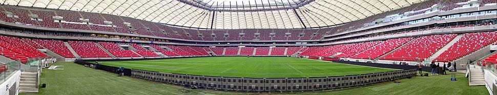 A Panorama view of the stadium interior