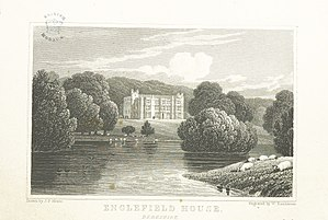 Englefield House - Drawing of Englefield House, in Views of the Seats of Noblemen and Gentlemen in England, Wales, Scotland and Ireland by John Preston Neale (1824)