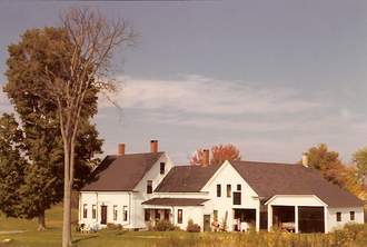 U.S. Route 202 - Connected farm in Windham, Maine typical of older residences adjacent to route 202 through rural New England.
