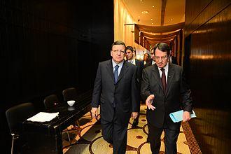 Nicos Anastasiades - José Manuel Barroso (left) and Nicos Anastasiades (right) in January 2013 in Cyprus