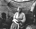 Niece of Chief Seattle in her home at Shilshole in 1901 (CURTIS 1110).jpeg