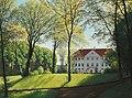 Niels Skovgaard - Summer day in the park a Danish manor (1882).jpg