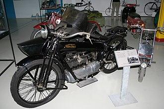 Nimbus (motorcycle) - Stovepipe Nimbus with sidecar