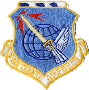 Nineteenth Air Force - Nineteenth Air Force patch from the 1960s