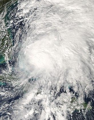 Hurricane Noel - Tropical Storm Noel over the Bahamas on November 1
