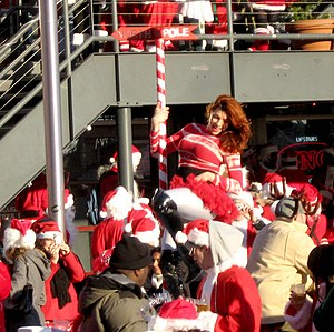 Christmas and holiday season - Public, secular celebration in seasonal costume