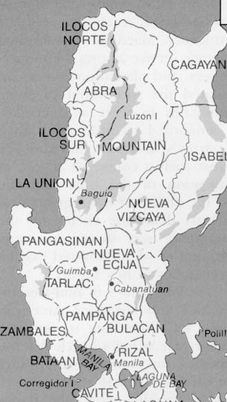 Quirino - An old map showing the current territories of Quirino as part of Nueva Vizcaya