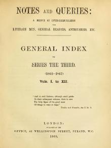 Notes and Queries - Series 3 - General Index.djvu
