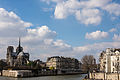 Notre Dame and Pont Saint-Louis, Paris April 2015.jpg