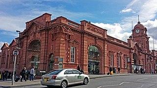 Nottingham station transport interchange serving the city of Nottingham, England