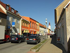 Nové Strašecí - A road in the central part of the town