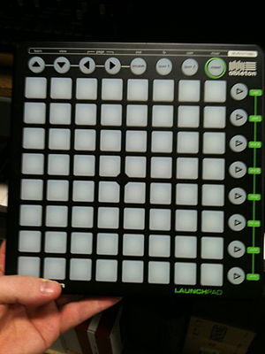 "Pop Culture (song) - A Novation Launchpad, which Leclercq used to perform ""Pop Culture"""