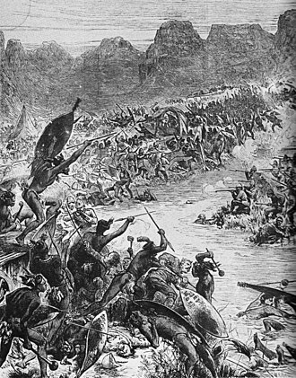 Battle of Intombe - Battle of the Intombe river (Illustrated London News)