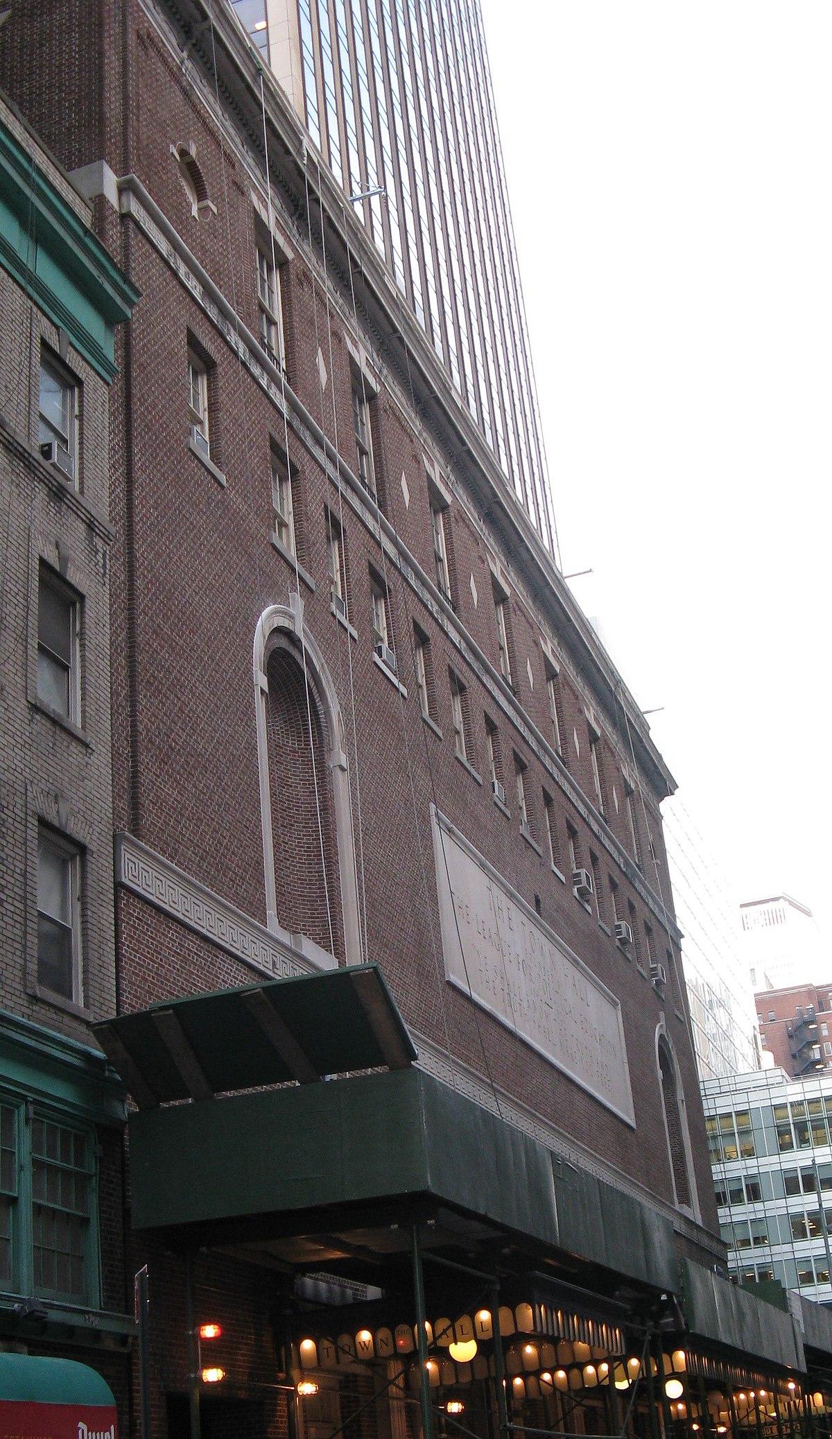 Town Hall New York City Wikipedia