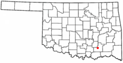 Location of Atoka, Oklahoma
